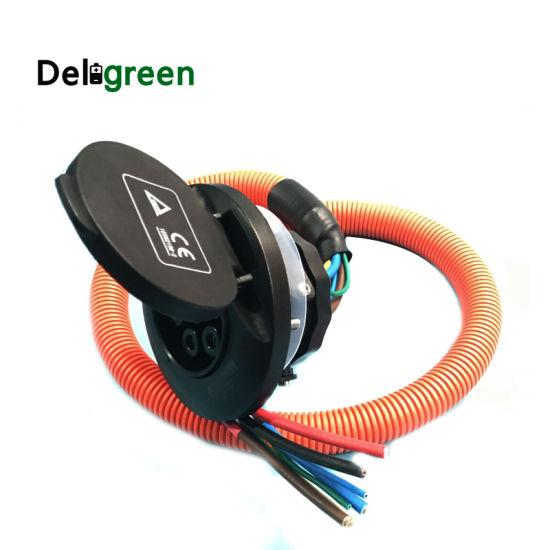 16A 32A 63A Type 2 Socket EV Socket Female Socket with IEC 62196