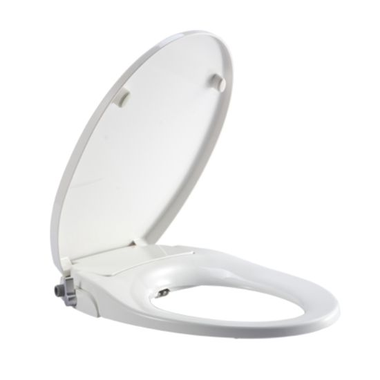 Slow-Close Classical Washlet Two Nozzles Cold Water PP O Shape Non Electric Bidet Toilet Seat pictures & photos