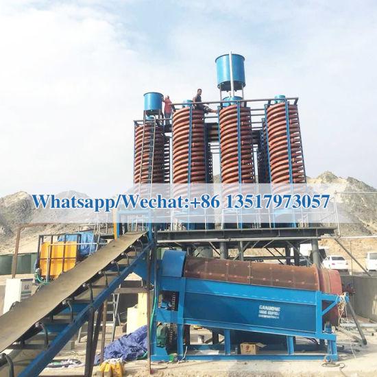 5ll-1500 Chrome Spiral Wash Plant Flowsheet