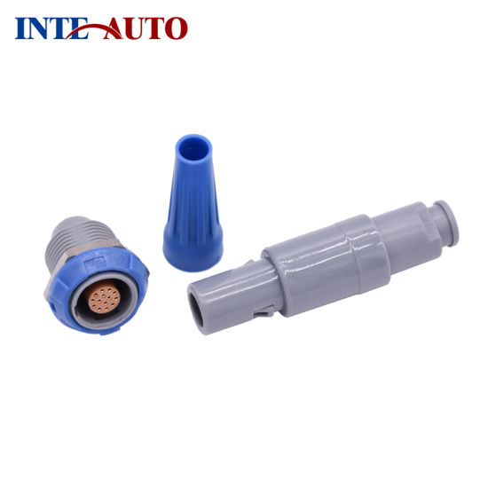 9 pins plastic straight plug connector INT-PAG. M0.9GL. AC65A/G/J/N/R/V/B with colors option pictures & photos
