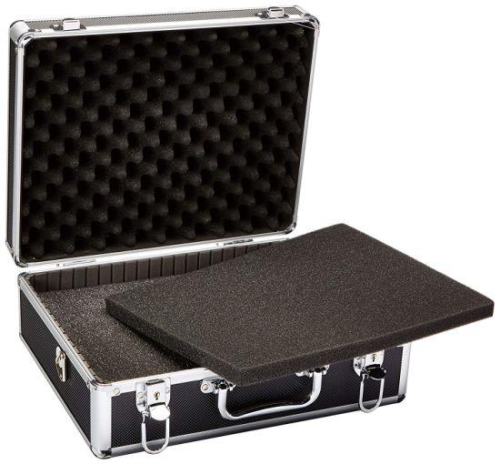 Logo Print Hot Sale Black Aluminum Tool Carrying Case/ Display Case Aluminum/ Aluminum Pilot Case