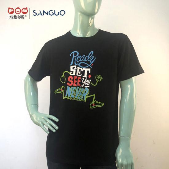 Custom Clothes Sport Tshirt Clothing Cotton T-Shirt Wholesale Silkscreen Men