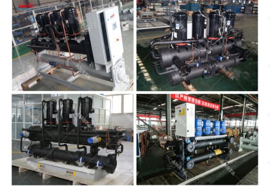 Shell and Tube Heat Exchanger Chiller Water Cool, Water Cooled Scroll Chiller, Qatar Water Chiller for Industrial