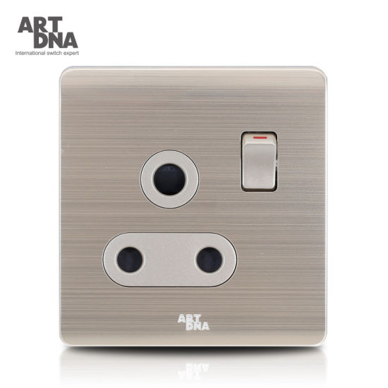 15A 3 Round Pin Socket with Switch