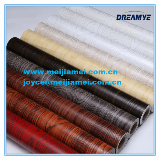 China Waterproof Self Adhesive Pvc Pine Wood Grain Stickers