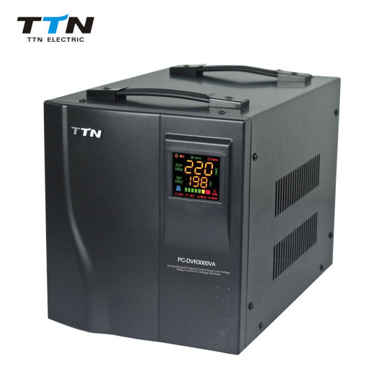 3000va AVR Single Phase 220V Relay Stabilizer Automatic Voltage Regulator