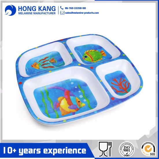 Non Disposable Plastic Plate Fruit Food Dinner Serving Tray