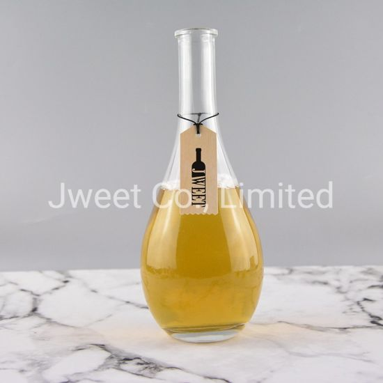 Fancy Custom Empty Oval Large Capacity Liquor Glass Bottle 1L