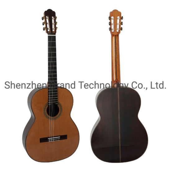 Handmade High Grade All Solid Vintage Hauser Replic Solid Indian Rosewood Back Side Classic Guitar