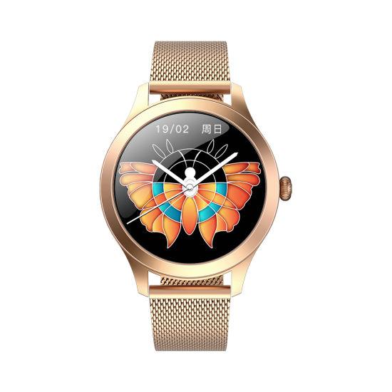 2020 Kw10 PRO Elegant Fashion Lady Multi Sport Stainless Steel Luxury Smart Watch Blood Oxygen Detection Women Watch