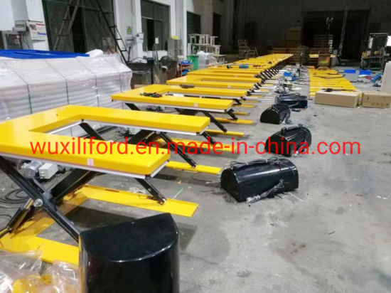 U-Shape Low Profile Scissor Lift Table Hu1000 Series