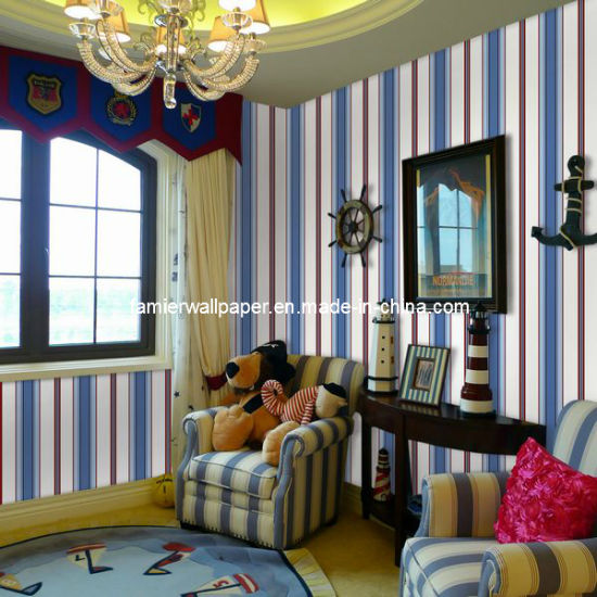 Stripe Design Kids Room Wallpaper Az 965415 China Wallpaper Wall Paper Made In China Com
