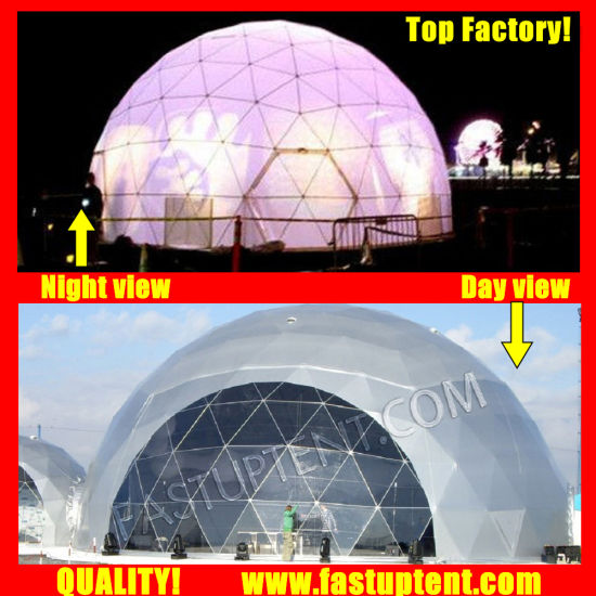 China Factory Geo Dome Diameter 16m Geodesic Dome Tent for Outdoor Ceremony