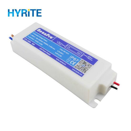 12V 24V 60W 100W Waterproof Plastic Case LED Power Supply