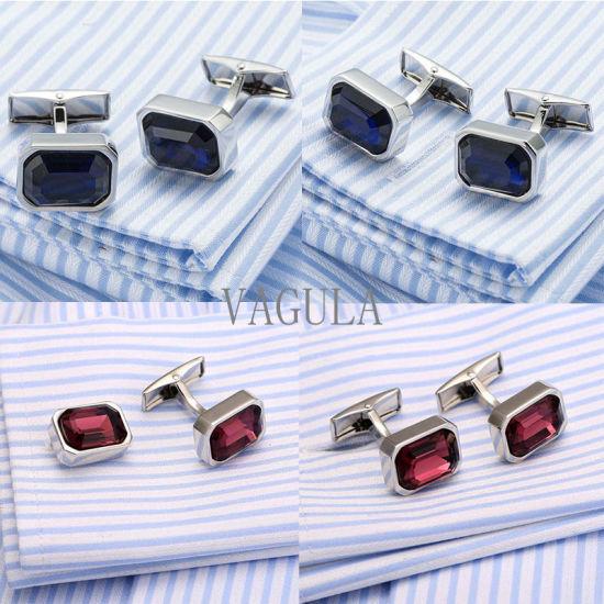 VAGULA Crystal Men French Cufflinks Wedding Gift Gemelos Zircon Cuff Links 519