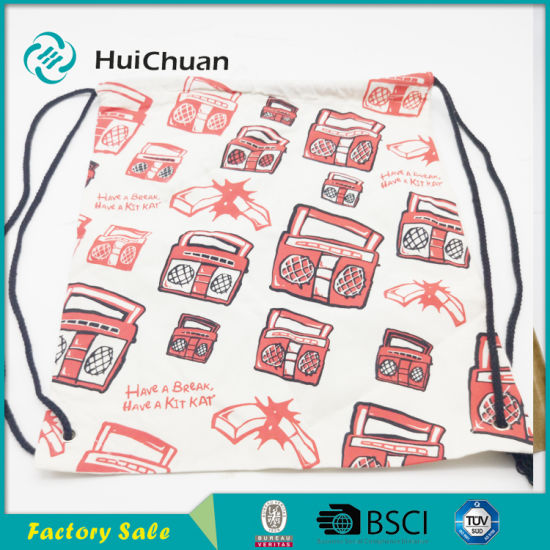 Original Factory Foldable Rope Bags Drawstring Cotton Bag for Shop pictures & photos