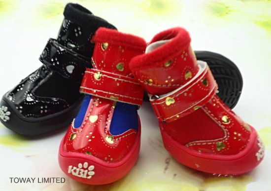 Anti Skid Pet Shoes Fleece Warm Sports Dog Boots