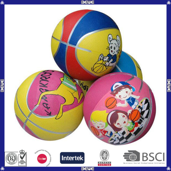 Promotional Lowest Price Indoor Rubber Basketball for Kids pictures & photos