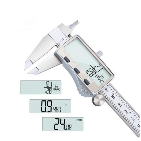 Digital Electronic Caliper Vernier Micrometer Measuring Inch Metric Fraction New