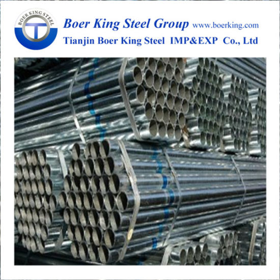 BS1387, ASTM A500 A53 Galvanized Carbon Steel Pipe /Hot Dipped Galvanized Round Pipe