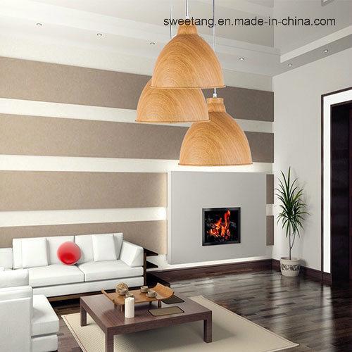 Modern Simple Indoor Lighting Chandelier Pendant Lamp with Wood Color