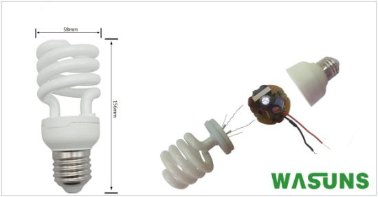 T4 Half Spiral 30W CFL Energy Efficient Lamps pictures & photos