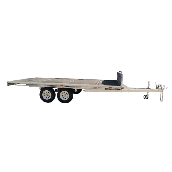 Flat Deck Trailer >> Large Size Flat Deck Trailer Flatbed Tandem Trailers For Sale