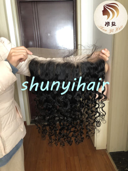 Chinese Hair Vendors Brazilian Virgin Human Hair Swiss Lace 13*6 Lace Frontal Free Part Natural Wave 13*6 Lace Frontal