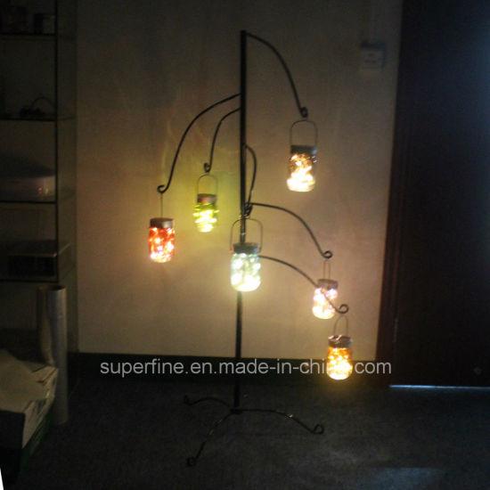 Led Solar Multicolor Firefly Jar Blinking Lights For Outdoor