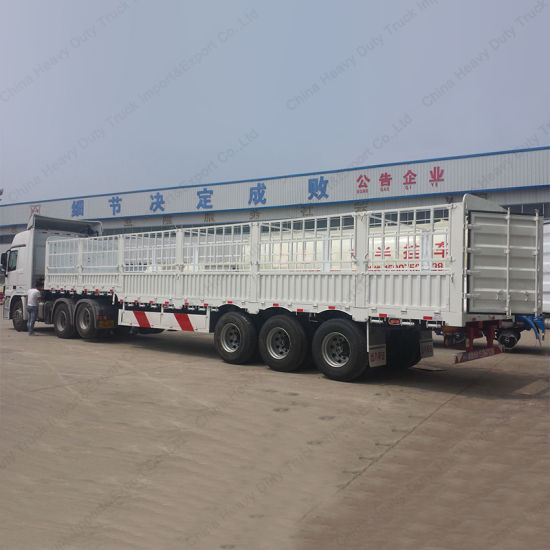 Durable Chinese Tri-Axle 60 Tons Stake Semi Trailer pictures & photos