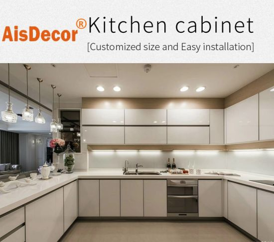 Modular Modern MDF Wooden Glossy Lacquer Kitchen Cabinets Furniture Design