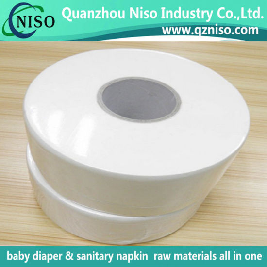 High Wet Strength 100% Vigin Pulp Tissue Paper for Manufacturing Baby Diaper