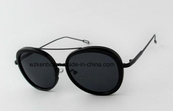 China Oval Shape Frame Double Eyebrow Plastic Combine Metal ...