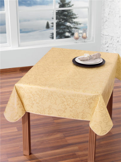 Hot Custom Printed Plastic Tablecloth With Nonwoven Fabric Backing High Quality Lfgb