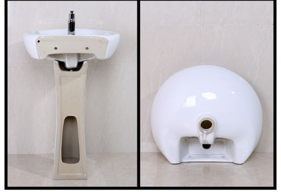 Toilet Pedestal Pan Ceramic Hand Wash Basin with Stand (SY-017)