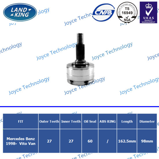 OEM Auto Spare Parts Outer CV Joint Me-001 for Mercedes-Benz Vito Van