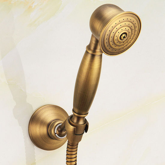 FLG Antique Solid Brass Shower Set Mixet Wall Mounted pictures & photos