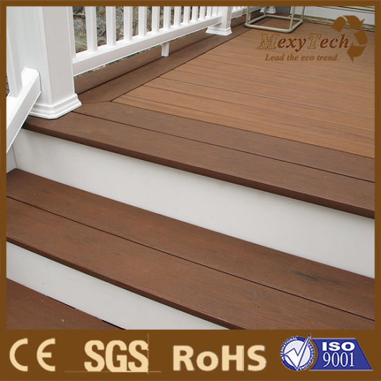 New Generation Weather Resistance UV WPC Decking Outdoor Flooring Co Extrusion WPC Decking pictures & photos