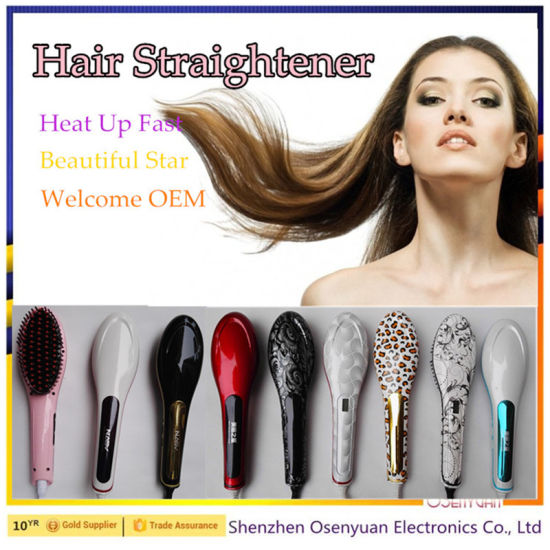 2016 Newest! LCD Display Wonder Hair Straightener Brush Comb pictures & photos
