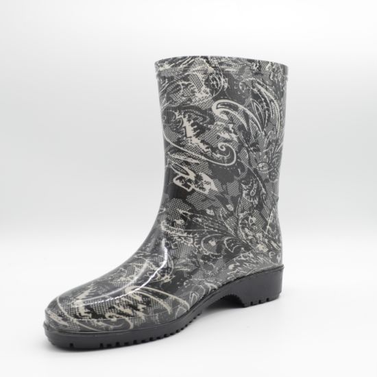 PVC Clear Fashion Women's Rain Boots