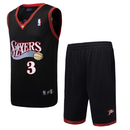 detailed look d2db4 dbfe7 China Philadelphia No. 3 Allen Iverson Basketball Suits, T ...