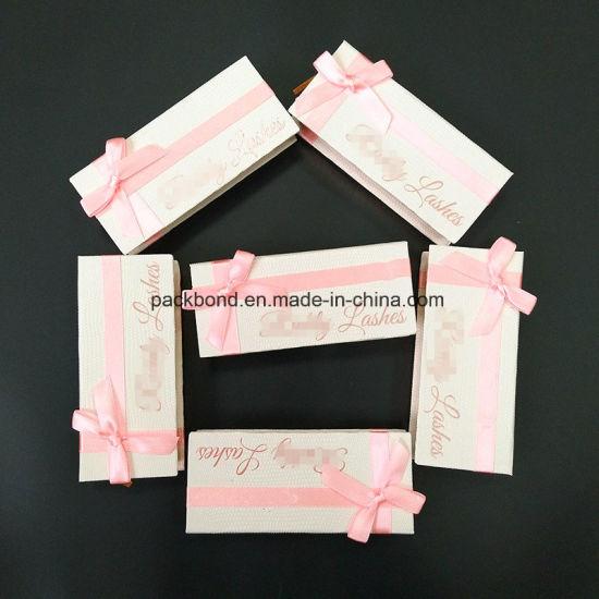 e12c1212121 Magnetic Closure Custom Design False Eyelash Packaging Box with Ribbon  Bownot