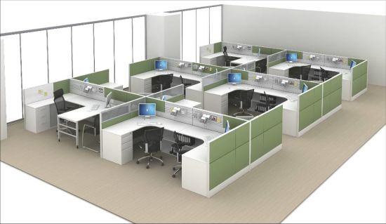China Modern Small Call Center Desk Office Workstation Cubicle For 6 Person China Office Workstation Office Cubicle