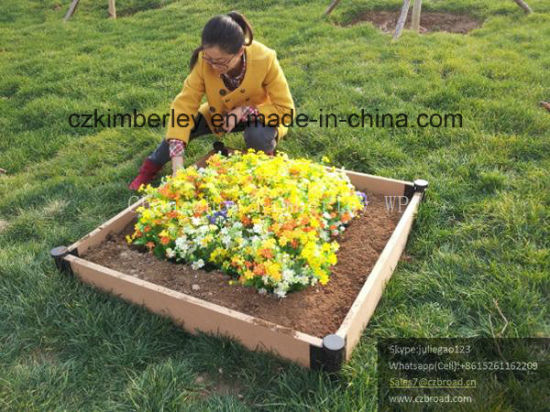 WPC Interlocking Flower Planter for Private Garden Usage pictures & photos