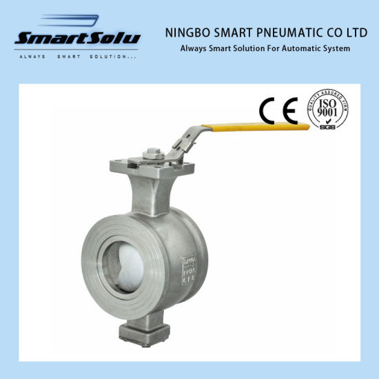 1′′ V-Notch 316 Stainless Ball Valve with Hand Wheel pictures & photos