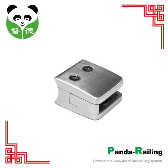 Stainless Steel Railing Glass Fitting/ Balustrade Glass Clip / Square Glass Clamp (5555) pictures & photos