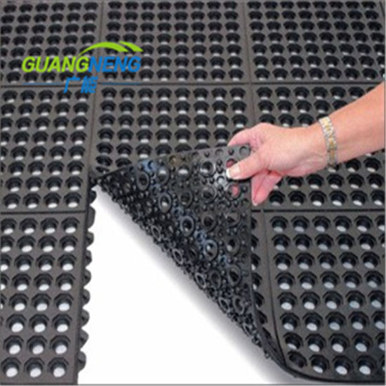 Perforated Kitchen Floor Rubber Mat