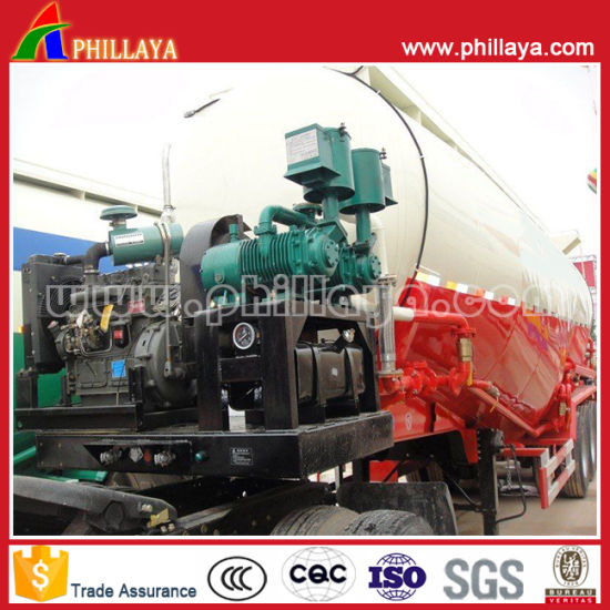 China Three Axle Light Vehicle Aluminum Alloy Tank Cement Bulker