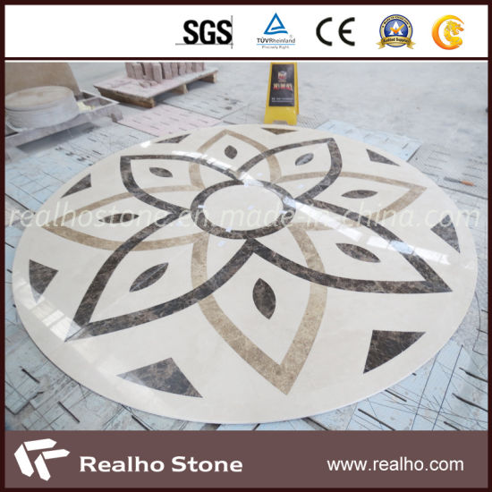 Marble Waterjet Medallions Pattern For Hotel Flooring