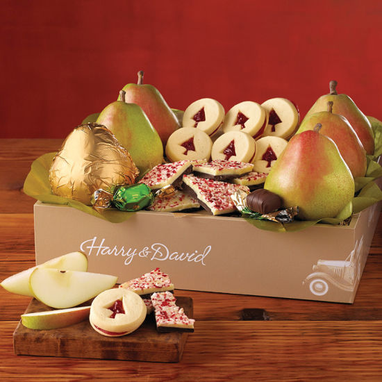 Classic Christmas Gift Boxes for Fruit and Cookies